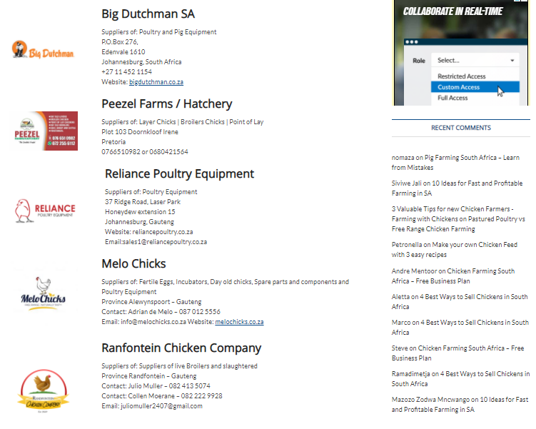 Suppliers get listed in our Suppliers Category by Province or All of South Africa.
